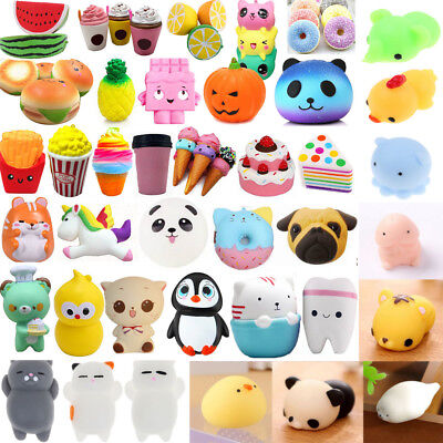 Super Slow Rising Squishy Fruits Animals Cake Phone Strap Stress Release Kid Toy