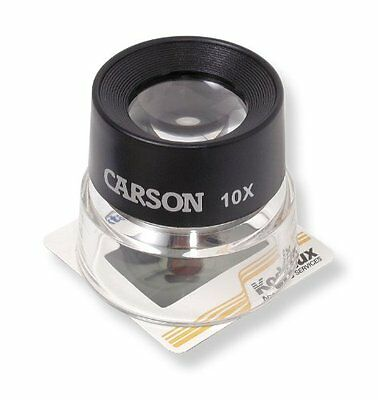 10X Magnifier Loupe W/ Prefocused Dual Lenses For Coin Stamp Photography Viewing