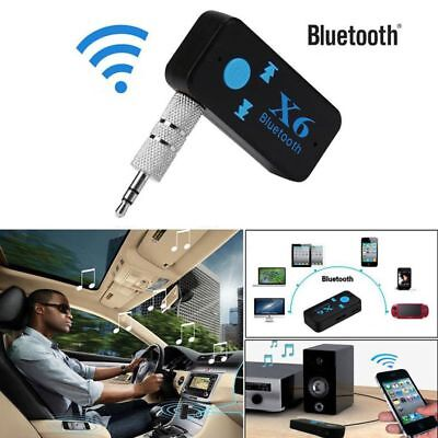 X6 Wireless Bluetooth 3.5mm AUX Audio Stereo Music Home Car Receiver Adapter Mic