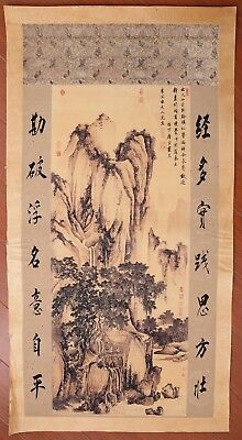 Excellent Rare Old China Landscape Paper Hand Painting Marked TangYan KK522