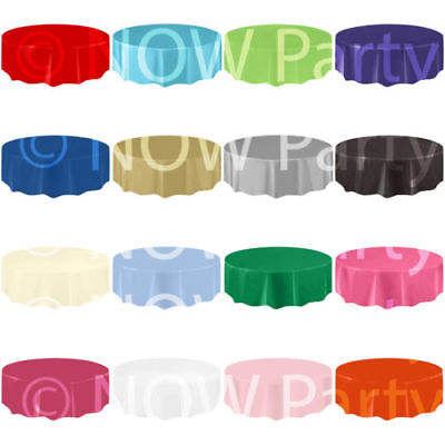 11 Colours New Round Plastic Tablecovers Table Cloth Cover Catering Events