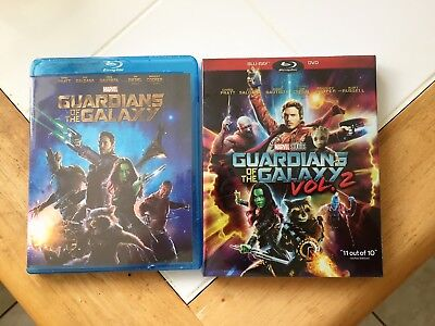 Guardians of the Galaxy Volume 1 and Volume 2 Blu-Ray Vol 1 Vol 2 Bundle