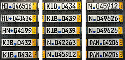 German License Plate - Temporary Yellow Band - Pick Your Plate