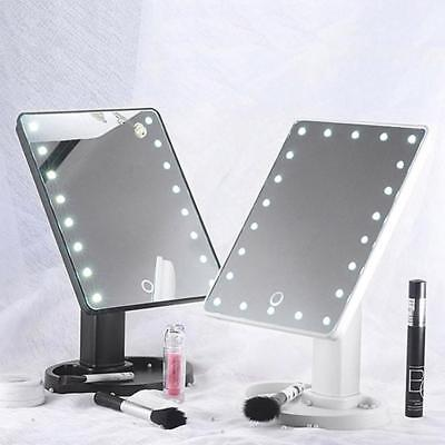 New 22 LED Touch Screen Makeup Mirror Tabletop Vanity light up Mirror Cosmetic
