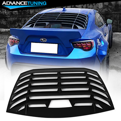 Fits 13-18 Subaru Brz Scion Frs Ikon Style Rear Window Shield Louver Abs