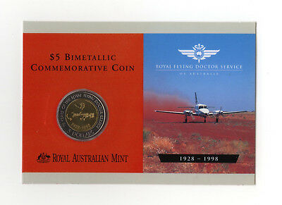 """1998 $5 Uncirculated Coin: """"Royal Flying Doctor."""""""