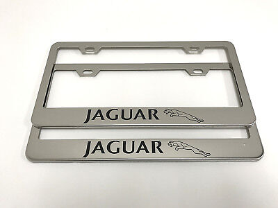 JAGUAR Heavy Chrome High Quality License Plate Frame Chrome-Metal ...