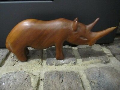 Timber Carved Rhinoceros