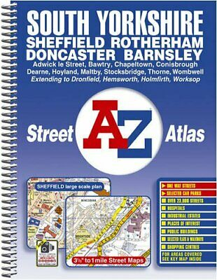 South Yorkshire Street Atlas (A-Z Street... by Geographers A-Z Map  Spiral bound