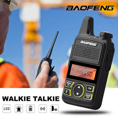 BAOFENG BF-T1 MINI Long Range UHF 400-470Mhz Two Way Radio Walkie Talkie Headset
