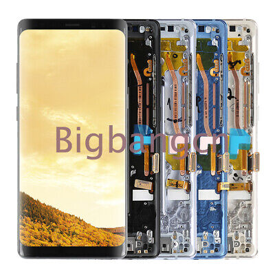 For Samsung Galaxy Note 8 Frame LCD Touch Screen Display Assembly Replacement