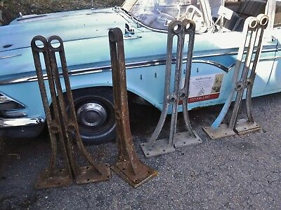 Antique PRR Cast Iron HANDRAIL STANCHIONS Railing Fence Post Railroad Industrial