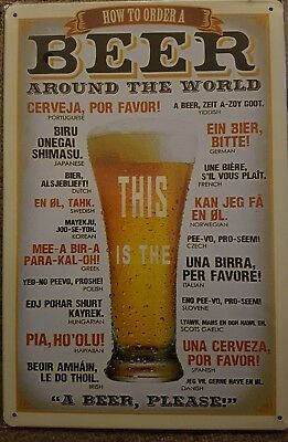 Beer - How to order a beer tin sign. Mancave Signs Aussie Seller