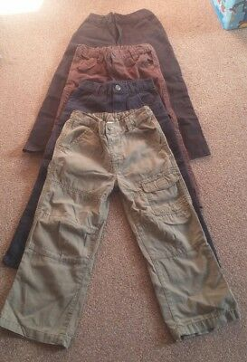 Boys 4-5 years Brown/Khaki/Black Trousers Jeans Bundle x4