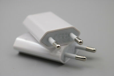 2Pcs EU Plug USB Wall Charger Charging Power Adapter For iPhone 5V/1A Travel