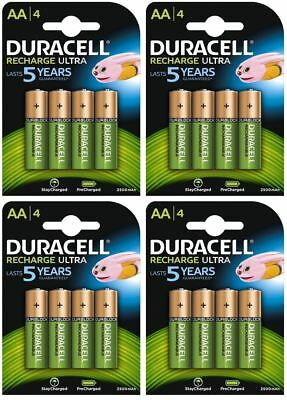 16 x Duracell AA 2500 mAh Duralock PRE / STAY CHARGED Rechargeable Batteries