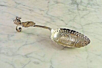 Antique Dutch .830 Silver Spoon with Swan