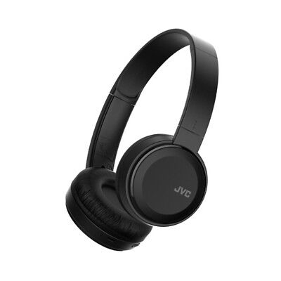 JVC Foldable Bluetooth On Ear Headphones Black Wireless Deep Bass Mic Remote