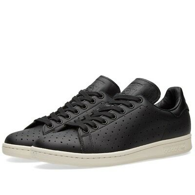 ... usa adidas stan smith mens originals black perforated leather trainers  sneakers f5b25 01001 abf8a19e5
