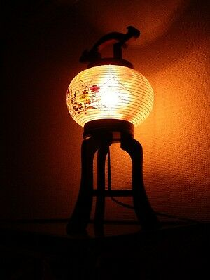 Chochin Lamp -Wooden Traditional craft table Lantern-  Made in Japan   15inch