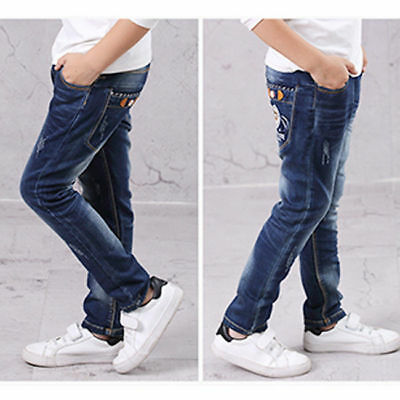 Boy Jeans High End Breathable Children's Clothing Jeans Age 4-13 Years 4952HC