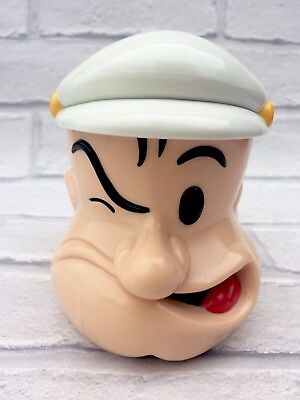 Popeye The Sailor Man King Features Syndicate Lidded Plastic Mug Cup Cartoon