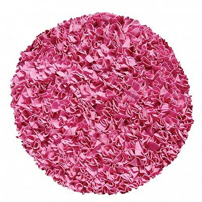 Rug Market Shaggy Raggy Round Bubble Gum Pink Area Rug NEW $275.00 Retail