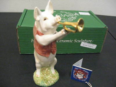 Beswick Royal Doulton Pig Promenade Pp2 Matthew The Trumpet Player With Box