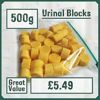 500g Urinal Blocks (appx 30) Prevent Odours & Blockages - Channel Cubes Toilet