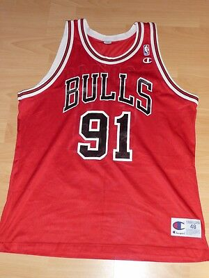 Chicago Bulls Dennis Rodman #91 NBA Basketball Trikot Jersey L 44 Champion