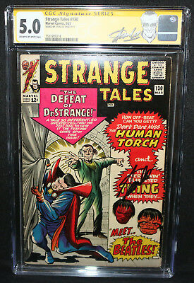 Strange Tales #130 - Signed by Stan Lee - CGC Signature Series Grade 5.0 - 1965