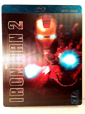 Iron Man 2 Steelbook (Blu-ray/DVD, 3-Disc Set) Limited Edition Rare OOP