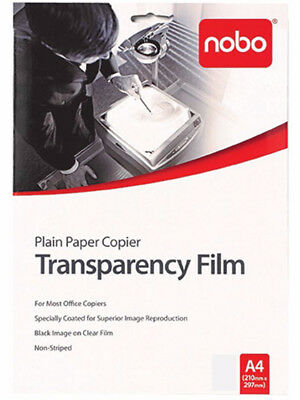 20 x Nobo PP100C OHP Copier Transparency Film PP100C20*