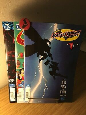 DC Harley Quinn Batman Day set of 3 special edition comic books with Red Badge