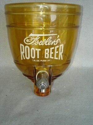 1930's Fowler's Root Beer Syrup Dispenser Glass  (NOS)