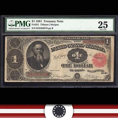 1891 $1 Treasury Note STANTON PMG Very Fine 25 Fr 351  B42386870