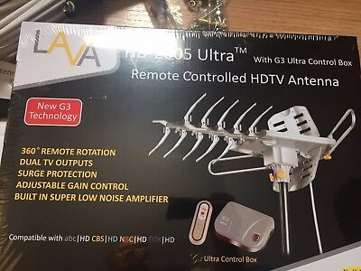 LAVA HD-2605 ULTRA Remote Controlled HD TV Antenna with 3G Control Box+3-WAY
