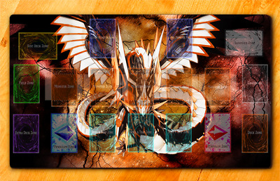 Custom Yugioh Playmat Cyber Dragon Infinity Master Rule Link extra monster Zone