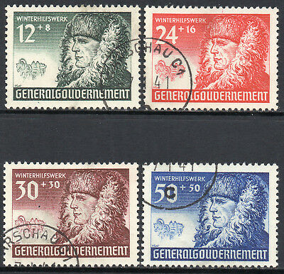 GERMANY 3rd REICH Occupations POLAND 1940 Winter Welfare Issue Fine USED Set