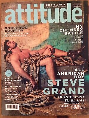 Attitude Magazine 287 SEP 2017 ALL AMERICAN BOY STEVE GRAND CHEMSEX BATTLE
