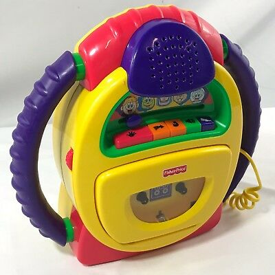 2002 Fisher-Price Tuff Stuff B0334 Cassette Recorder Multi Voice Tape Player