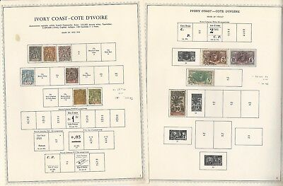 Ivory Coast Collection 1892-1976 on 36 Minkus Specialty Pages