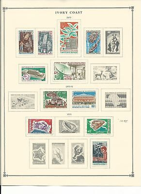Ivory Coast Collection 1967-1973 & BOB on 12 Scott International Pages