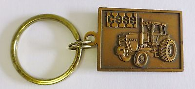 Vintage Case Tractor Advertising Brass Keychain Farming Best in the Field RARE