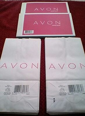 Avon supplies bags and Order books