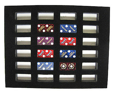 Dice Insert 24 Casino Pairs Display Board  8 x 10 Display Your Collectibles *