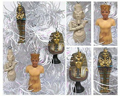 Ancient EGYPT 4 Piece Christmas Tree Ornament Set Featuring 4 Egyptian Figures