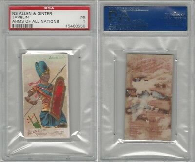 N3 Allen & Ginter, Arms of all Nations, 1887, Javelin, PSA 1