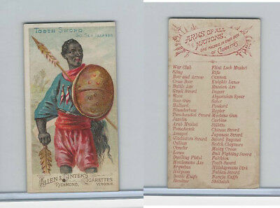N3 Allen & Ginter, Arms of all Nations, 1887, Tooth Sword