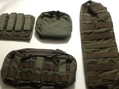 Pre MSA PARACLETE  Smoke Green, Choose any 5 POUCHES, $11.00 each !!  New !!